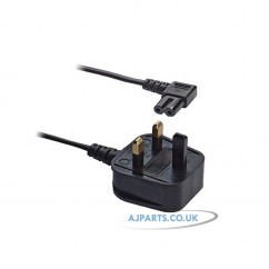 Replacement For Right Angled Figure 8 Power Lead 1 Meter