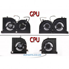 New Replacement For MSI Stealth Pro GS63 GS63VR GS73 GS73VR 7RF MS-16K2 MS-17B1 Laptop CPU + GPU Cooling Fan