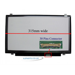 14.1 WXGA GLOSS LED SCREEN TOP BTM BRX EDP-N140BGA-EA4 ( 315MM Wide )