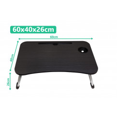 New Folding Laptop Bed Tray Table Black